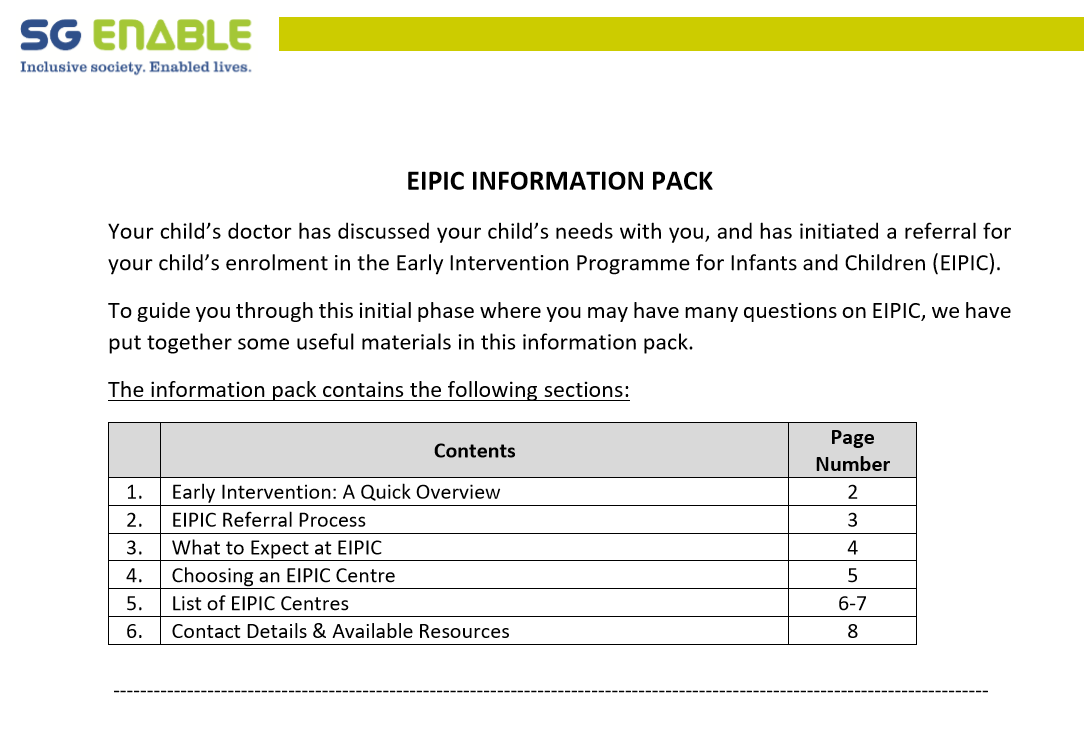 EIPIC Information Pack