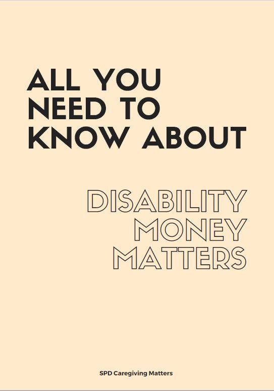 SPD Disability Money Matters Booklet
